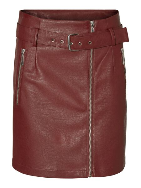 COATED ZIPPER SKIRT