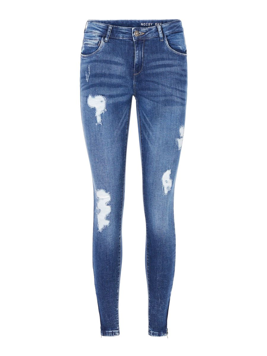 NMKIMMY CROPPED NORMAL WAIST SKINNY FIT JEANS, Medium Blue Denim, highres