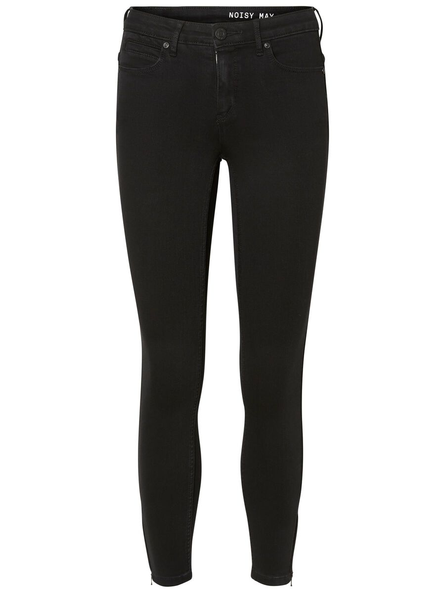 NMKIMMY CROPPED NORMAL WAIST SKINNY FIT JEANS, Black, highres