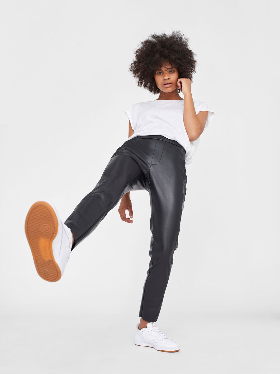 HIGH-WAIST LEGGINGS, Black, highres