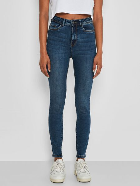 NMAGNES HIGH WAISTED SKINNY FIT JEANS