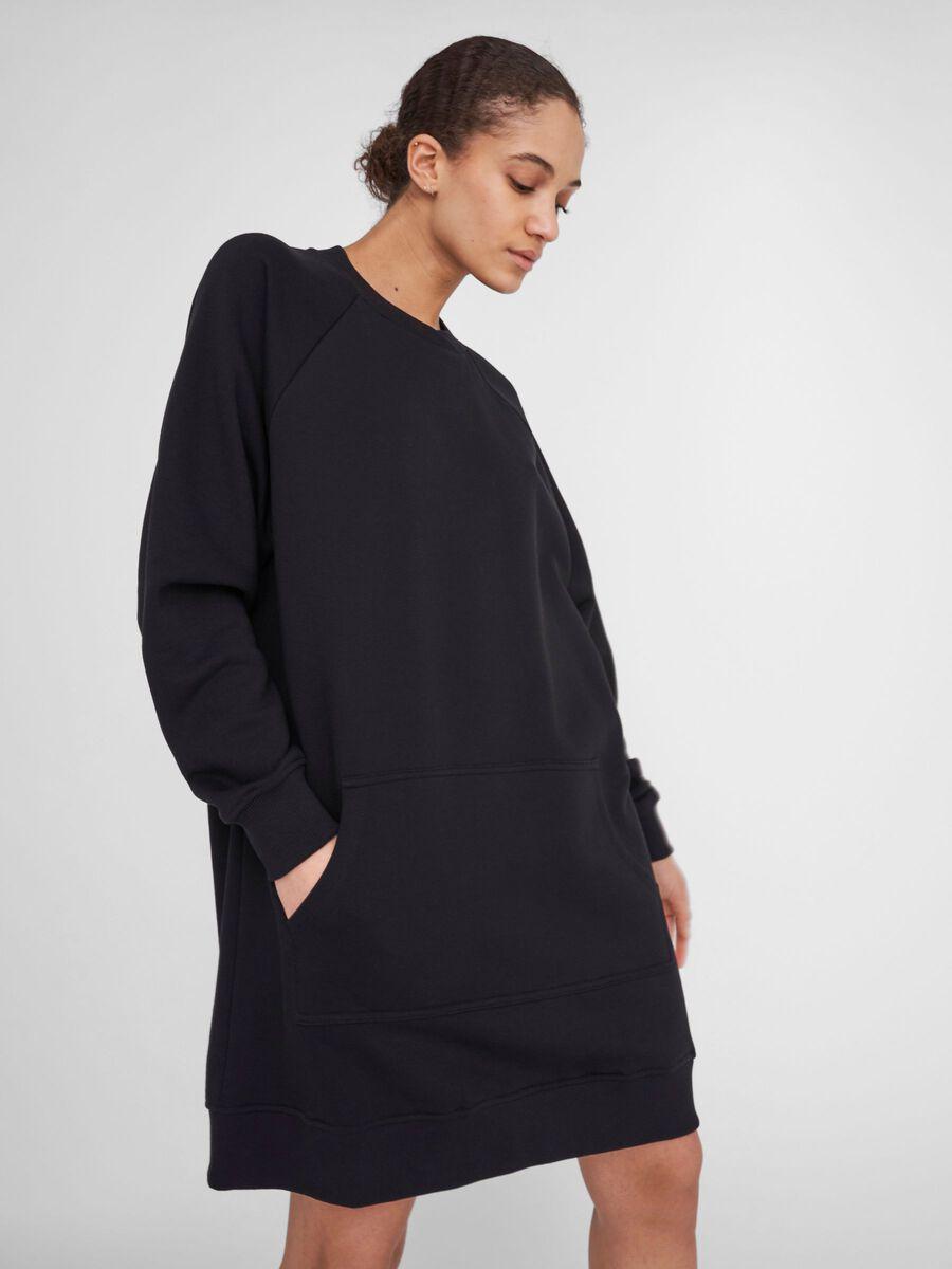 Noisy May LONG SLEEVED SWEAT DRESS, Black, highres - 27016717_Black_007.jpg