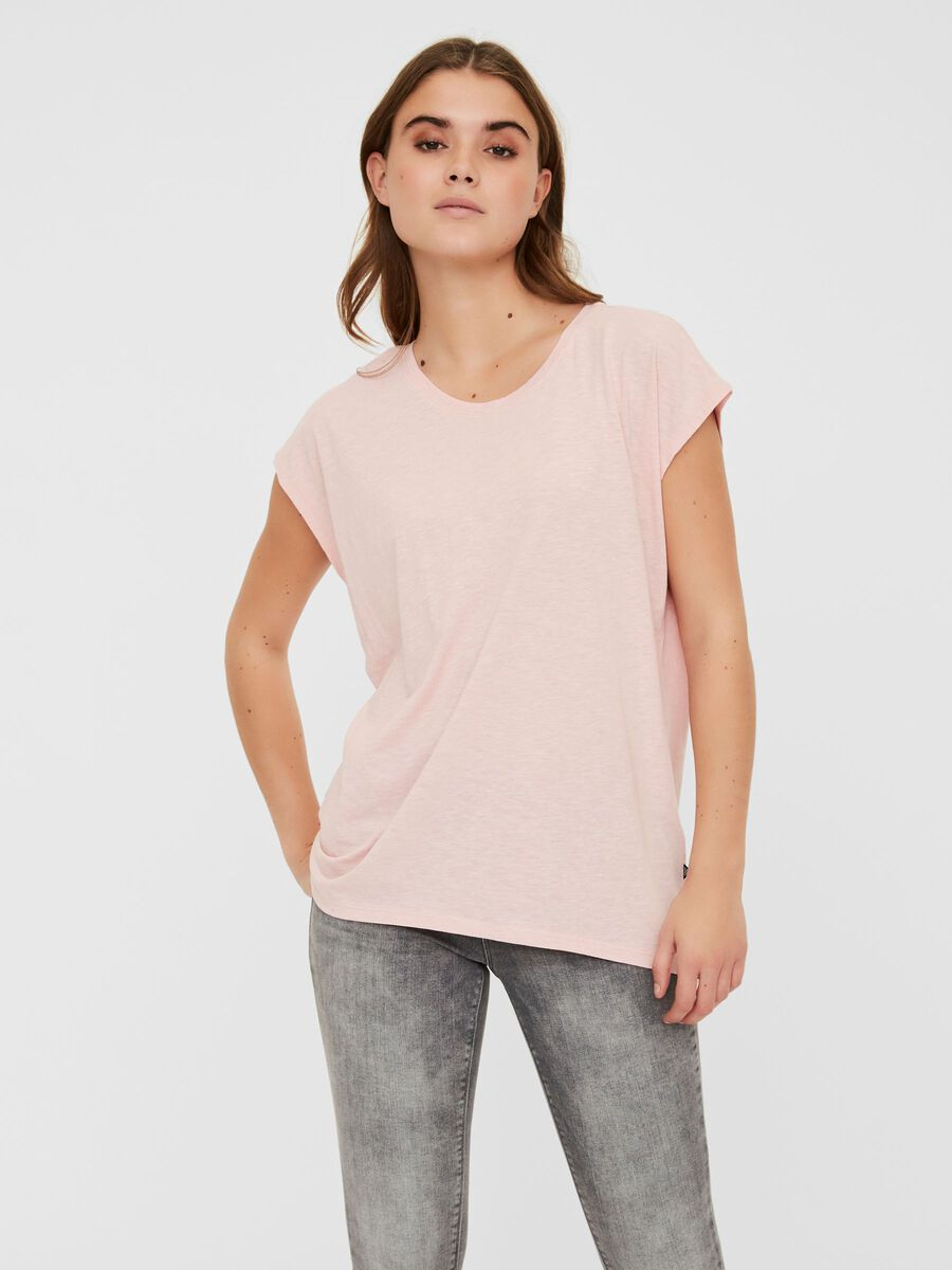 OVERSIZED T-SHIRT, Silver Pink, highres