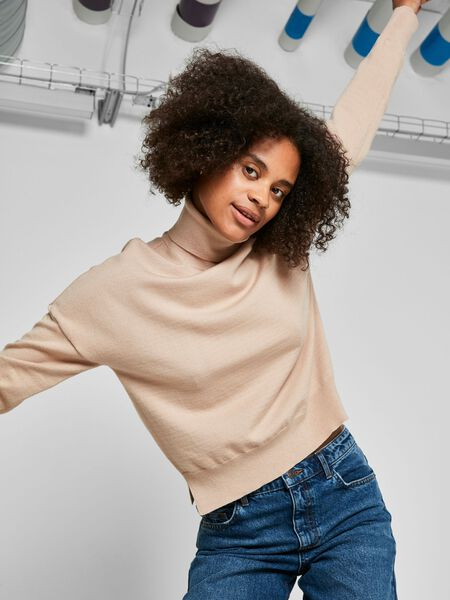 Noisy May HIGH NECK KNITTED PULLOVER, Nomad, highres - 27017051_Nomad_007.jpg