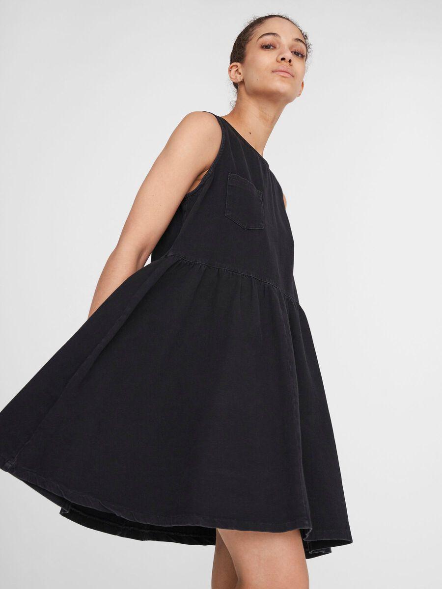 Noisy May SLEEVELESS DENIM DRESS, Black, highres - 27016155_Black_007.jpg