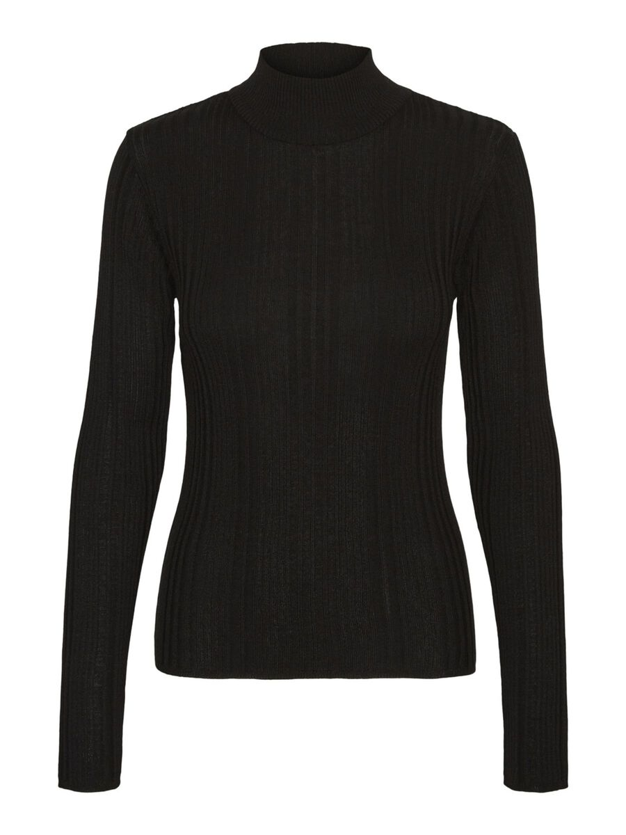 Noisy May HIGH-NECK KNITTED PULLOVER, Black, highres - 27015304_Black_001.jpg