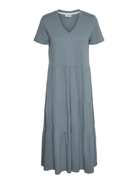 SHORT SLEEVED MIDI DRESS