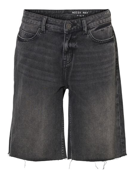 NORMAL WAIST DENIM SHORTS