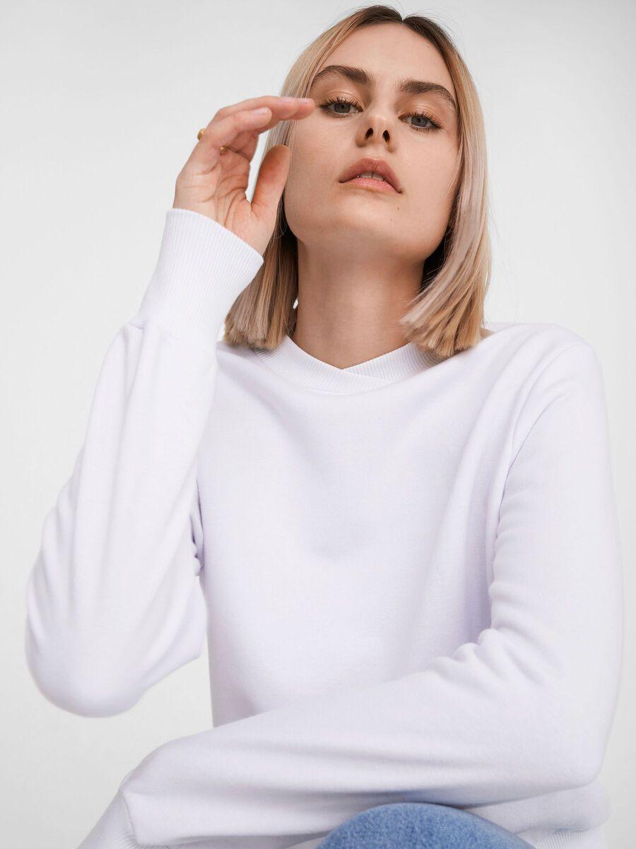 HIGH-NECK SWEATSHIRT, Bright White, highres