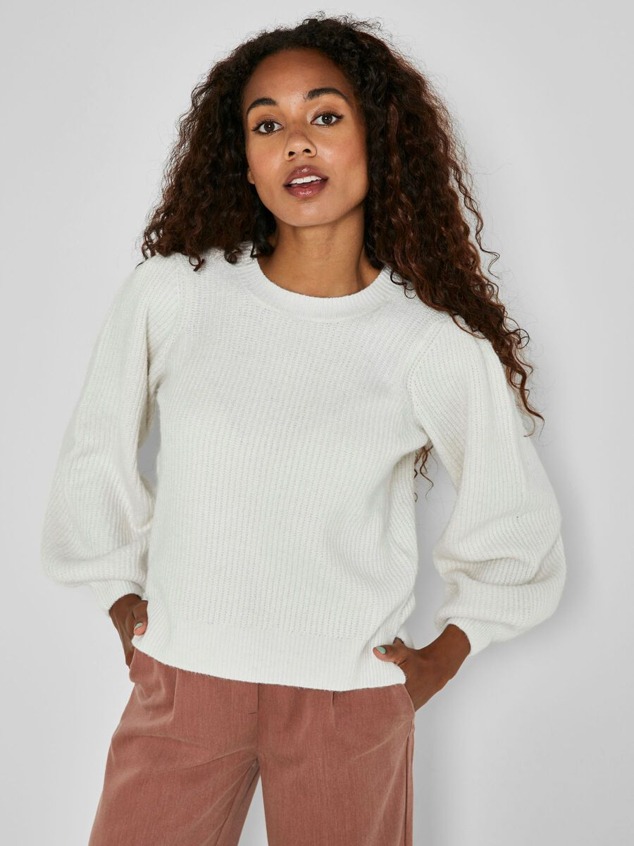 KNITTED PULLOVER, Sugar Swizzle, highres