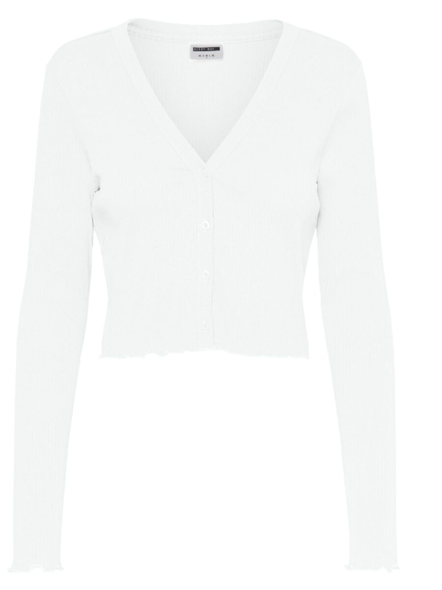 CROPPED CARDIGAN, Bright White, highres