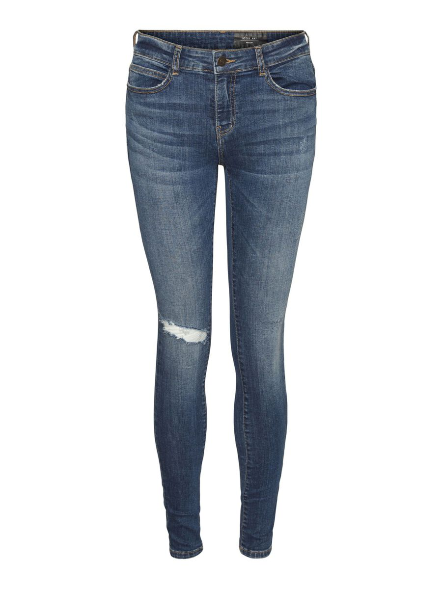 NMLUCY NORMAL WAISTED SKINNY FIT JEANS, Medium Blue Denim, highres