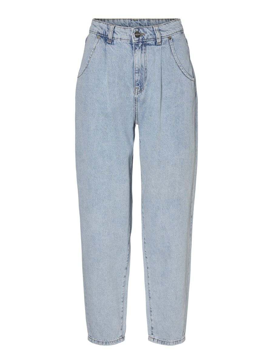 NMSELLA HIGH WAISTED LOOSE FIT JEANS, Light Blue Denim, highres