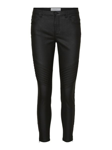 NMKIMMY TAILLE CLASSIQUE MOTARD JEAN SKINNY
