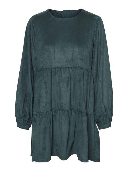 SUEDE LOOKALIKE DRESS