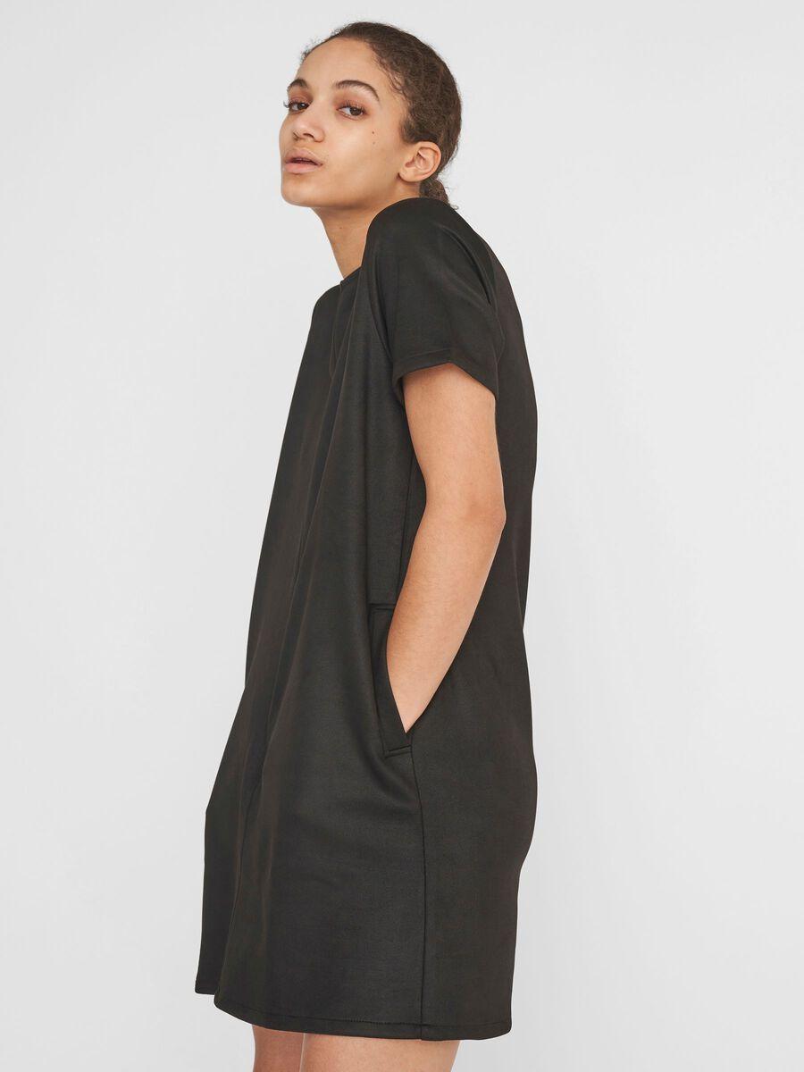 Noisy May FAUX SUEDE DRESS, Black, highres - 27016243_Black_007.jpg