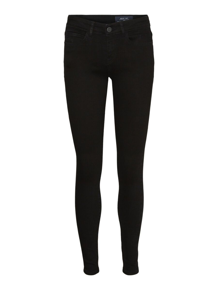 NMLUCY NORMAL WAIST SKINNY FIT JEANS, Black, highres