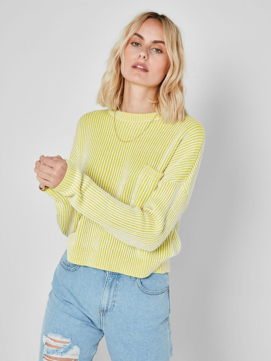 CROPPED KNITTED PULLOVER, Sulphur Spring, highres