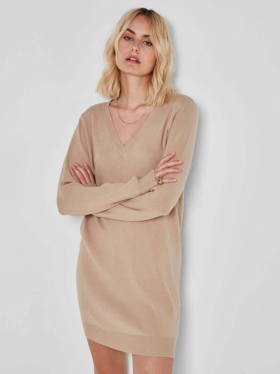 KNITTED SHORT DRESS, Nomad, highres