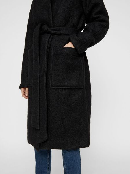 LONG EN LAINE MANTEAU