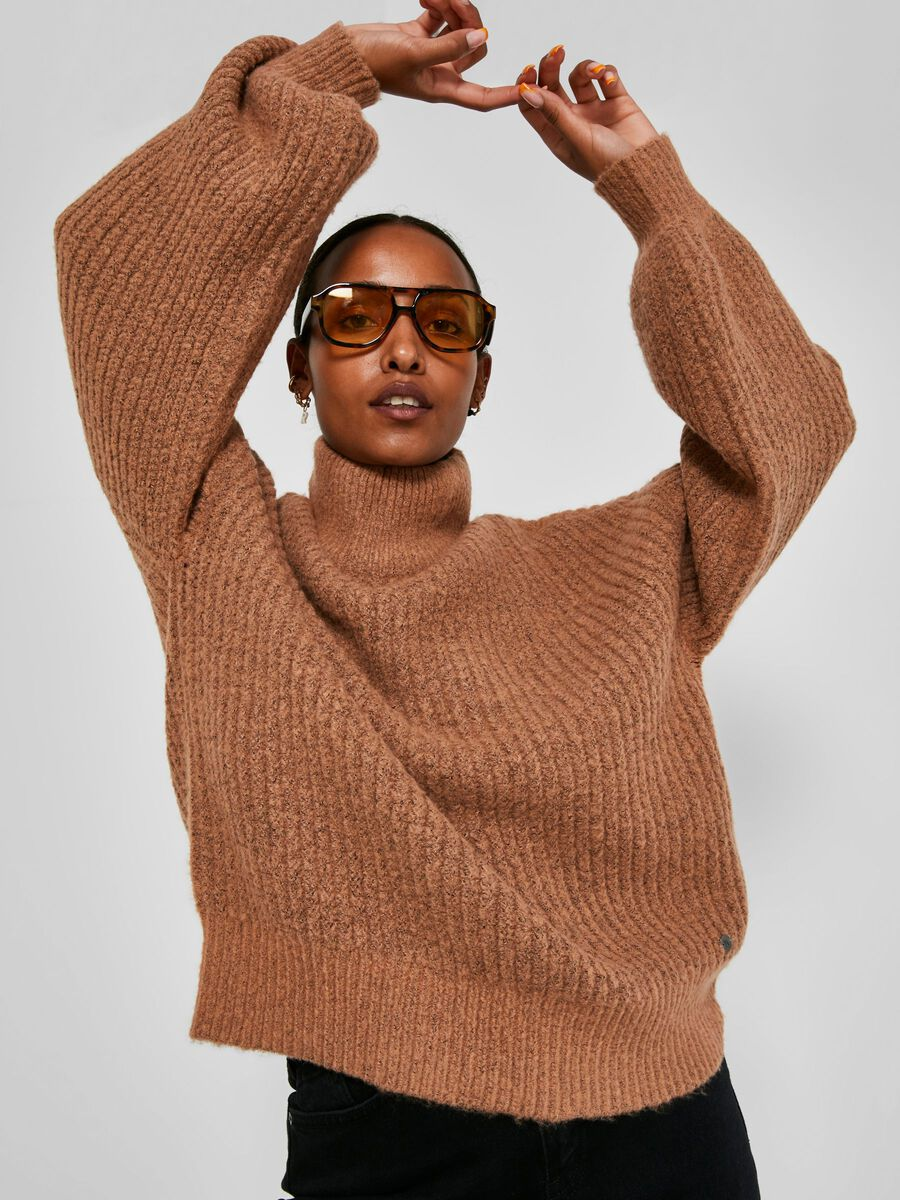 Noisy May CHUNKY KNITTED PULLOVER, Camel, highres - 27012447_Camel_007.jpg