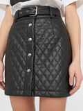 Noisy May QUILTED FAUX LEATHER SKIRT, Black, highres - 27016271_Black_006.jpg