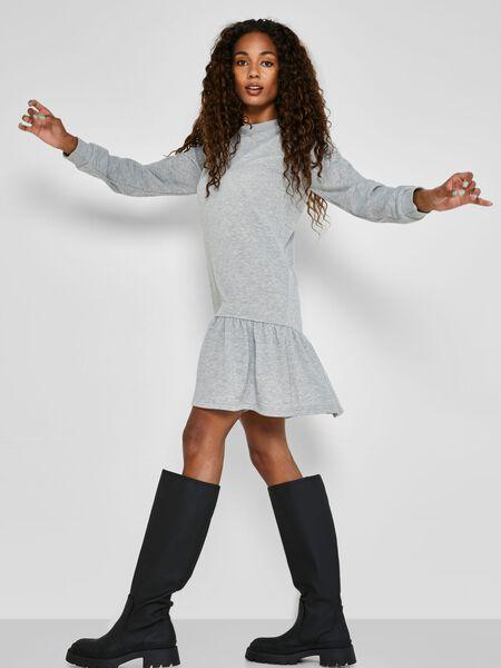 Noisy May SHORT SWEAT DRESS, Light Grey Melange, highres - 27018931_LightGreyMelange_007.jpg