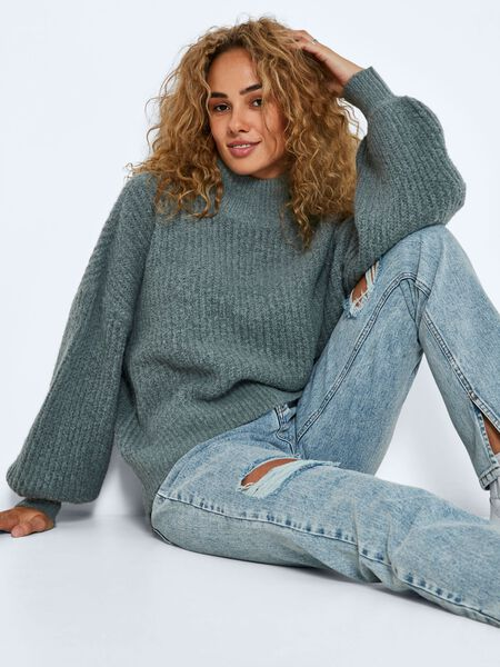 Noisy May HIGH NECK KNITTED PULLOVER, Trooper, highres - 27017398_Trooper_007.jpg