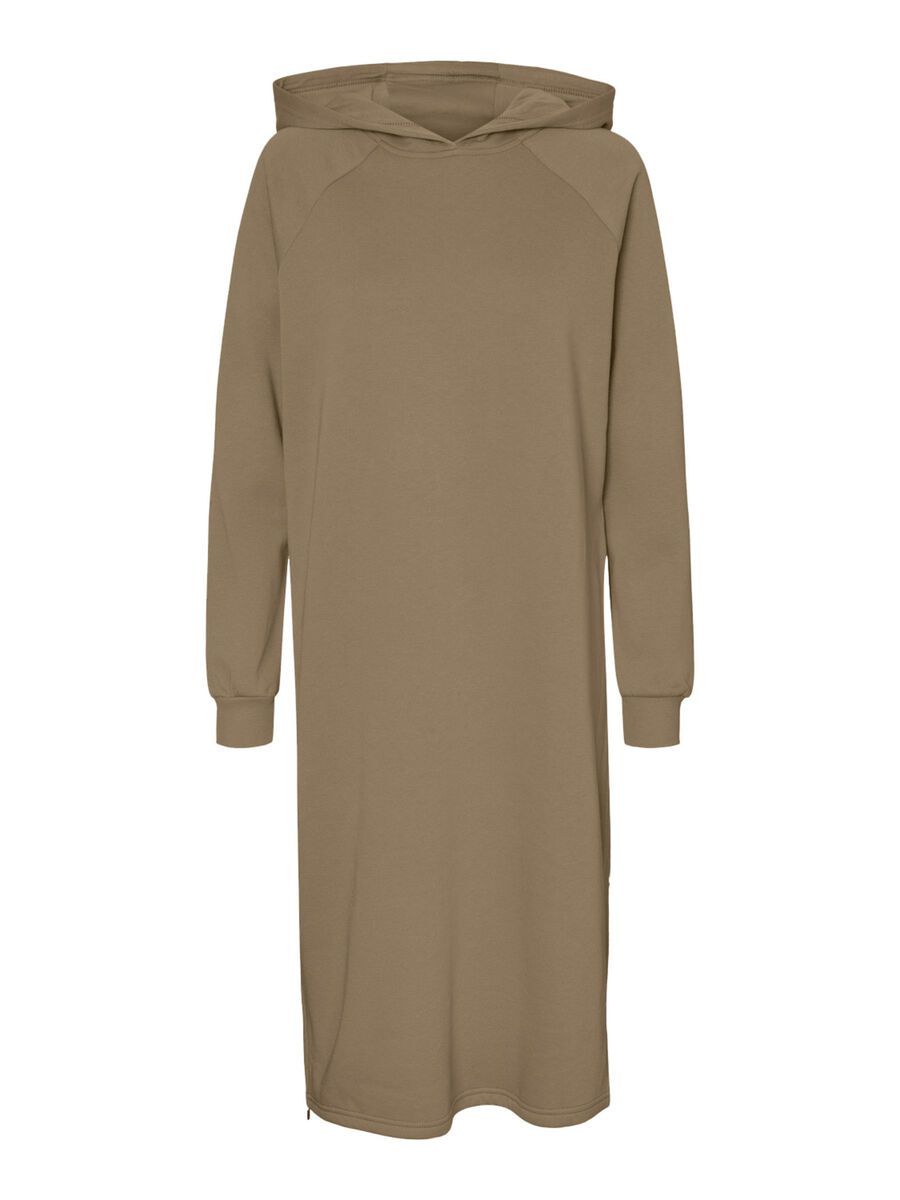 LONG SWEAT DRESS, Tigers Eye, highres