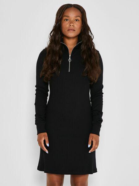 Noisy May LONG SLEEVED SHORT DRESS, Black, highres - 27019445_Black_003.jpg