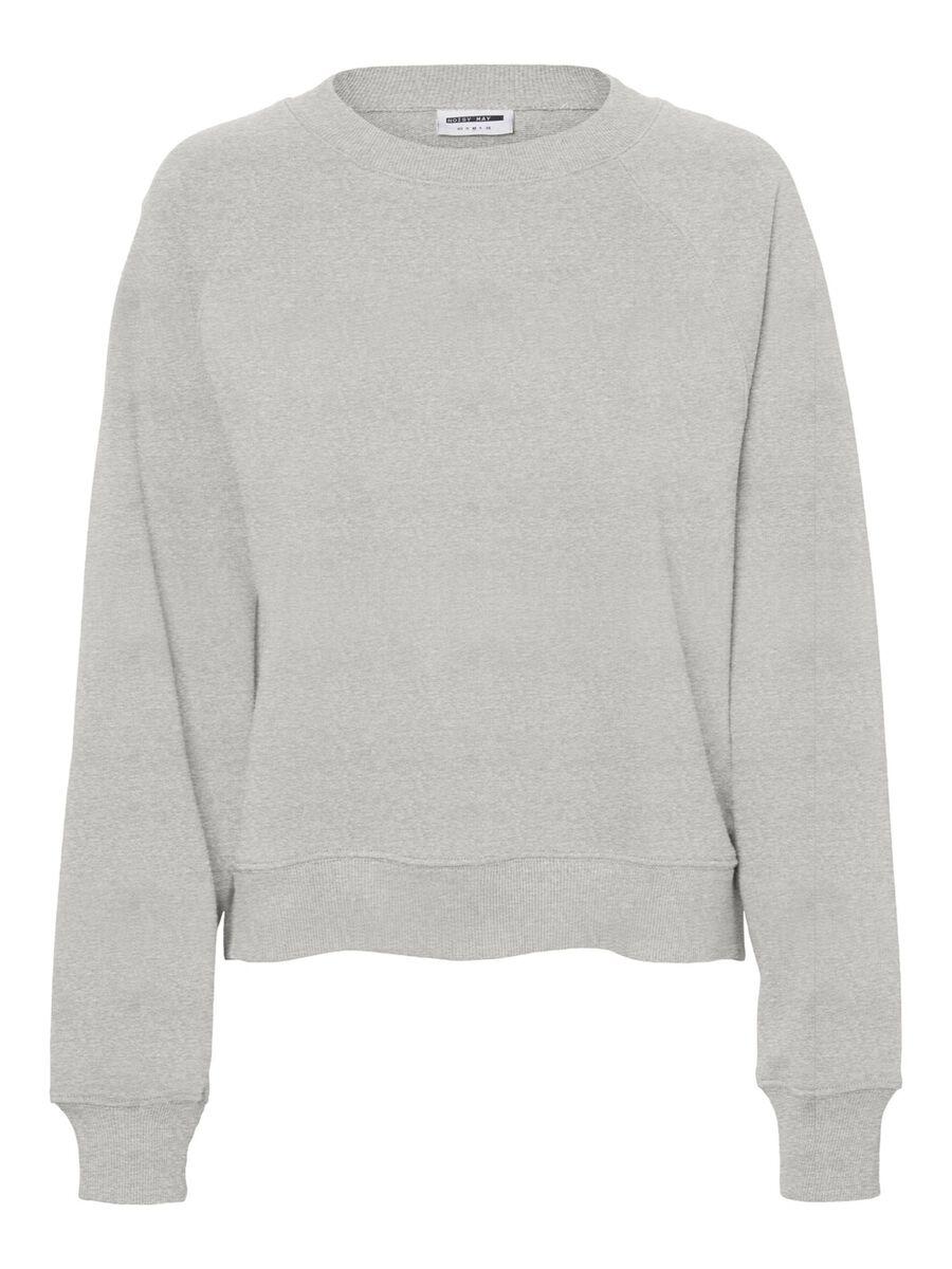 COL ROND SWEAT-SHIRT, Light Grey Melange, highres