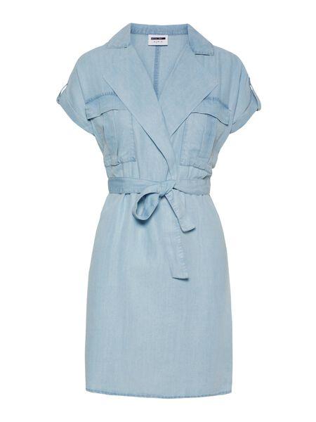 SHORT SLEEVED SHIRT DRESS