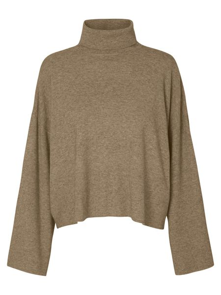 ROLL NECK KNIT BLOUSE